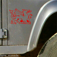Welsh Dragon Stickers Wales Cymru Vinyl Car laptop Wall Art Decals Graphic V2
