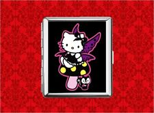 HELLO GOTH FAIRY KITTY CAT METAL WALLET CARD CIGARETTE ID IPOD CASE