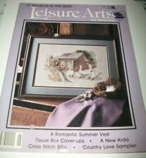 LEISURE ARTS THE MAGAZINE COUNTED CROSS STITCH PATTERN BOOK JUNE 1988 ISSUE