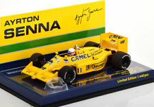 1:43 Minichamps Lotus 99T GP Italy Senna riding on car Nakajima 1987