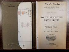 Geological Atlas of The United States Folio 190 Niagara 1914 w Maps & Fold-Outs