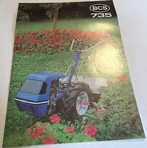 BCS 735 Cultivator/ 2-wheel Tractor Tracmaster Agin Original 1980s? BROCHURE