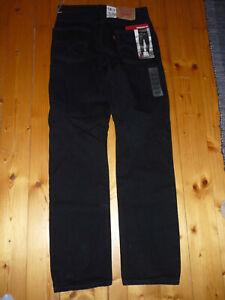 LEVIS Original 505 Gr. 30 32 schwarz mit Reißverschluss Jeans regular fit
