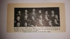 Shaw High School Cleveland Ohio 1910 Football Team Picture RARE!