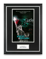 John Carpenter Signed 16x12 Framed Photo Display Escape from New York Autograph