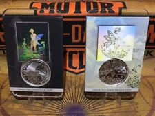 1 OZ .999 Tom Grindberg Silver Coin Set 1 & 2 Gwen & Grace the Fairy