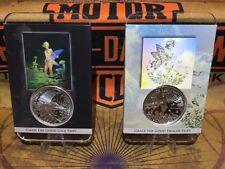 1 OZ .999 Tom Grindberg Silver Coin Set 1 & 2 Gwen & Grace the Fairy