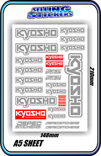 KYOSHO MODEL RC CAR DRONE BOAT BUGGY MINI Z STICKERS DECALS ROBOT R/C GREY W