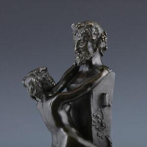 Nymphe und Satyr Herme nach Clodion um 1850 Bronze Klassizismus Erotika