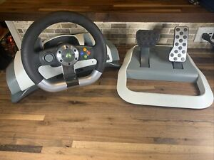 Microsoft Xbox 360 Wireless Steering Wheel + Pedal Only! No power, no mount.
