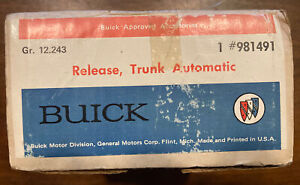 NOS 981491 AUTOMATIC TRUNK RELEASE BUICK ALL 1969 1970 SKYLARK GS 71 72  30-40