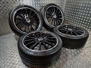"""Genuine OEM Mercedes A B CLA Class AMG 18"""" Alloy Wheels + Tyres W176 Night Ed !!"""