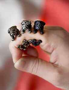 Pug Dog Wrap Around Ring Resize-able in Silver, Gold, Black New UK