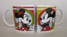 Disney Mickey & Minnie Mouse Bookend Hug Mugs Ceramic Coffee Cups/Mugs Set Of 2