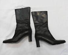 VIA SPIGA Dark Brown Leather Mid Calf Boots Size 7.5