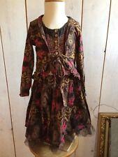 Jottum Skirt + Cardigan + Gilet EILEEN dark brown 110/116 - 5/6 years