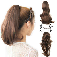OneDor 15 Inch Dual Use Curly Hair Synthetic Claw Clip Ponytail Extensions
