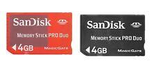 Genuine 4GB Memory Stick Pro Duo SanDisk MS Pro Duo Flash Memory Card