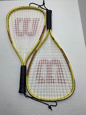 Wilson Hyperalloy Xpress Turbo Tubes Racquetball Racquet 3 7/8 Grip LOT OF 2