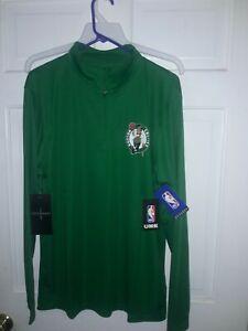 Boston Celtics basketball 1/4 zip Pullover Long Sleeve Shirt NBA apparel NEW  XL