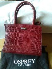OSPREY Mock Crocodile Skin Leather Handbag New with Dust bag