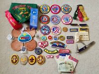 Huge SF Bay Area Vintage 1980s Boy Scout Lot, Patches, Neckerchief, Pins, More!