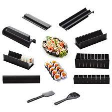 10Pcs Sushi Maker Kit Rice Roll Mold Kitchen DIY Easy Chef Set Mould Roller Tool