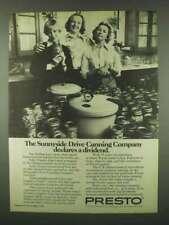 1978 Presto Pressure Canner Ad - Sunnyside Drive