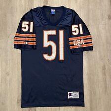VTG Champion Dick Butkus Jersey Chicago Bears NFL #51 RARE Blue VTG90 Size 40