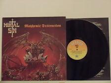 MORTAL SIN disco LP 33 giri MAYHEMIC DESTRUCTION 1987 made in UK + INNERSLEEVE
