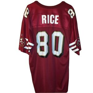 Vintage San Francisco 49ers Jerry Rice #80 Champion Jersey Red Size 48