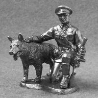 Metal Toy Soldiers Soviet Border Guard With Dog 1/32 Miniature 54mm WW2