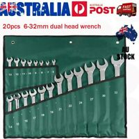 20PCS/Set 6-32mm Gear Spanner Chrome Vanadium Wrench Spanner Fixed VIC