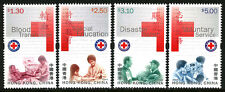 Hong Kong 894-897, MNH. Red Cross. Blood transfusion, Disaster relief, 2000
