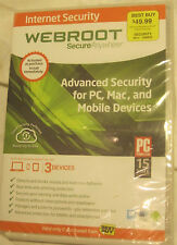 Webroot Secure Anywhere Anti Virus  PC MAC Mobile Android IOS NEW SEALED