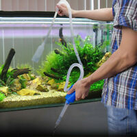 Aquarium Siphon Gravel Cleaner Fish Tank Clean Vacuum Water Changer Pump Filter