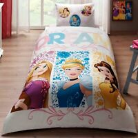 PRINCESS DREAM SINGLE / TWIN SIZE 100%COTTON KIDS BEDDING DUVET QUILT COVER SET