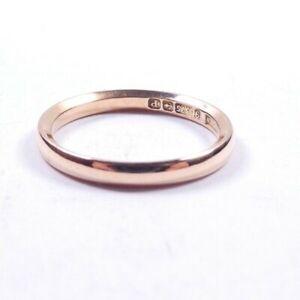 Rose gold wedding ring antique 9 carat gold Size L Birmingham 1914