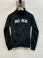 Men's Nike Spell Out Full Zip Jacket Black UK Size Small S IMMACULATE