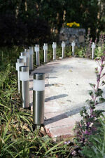 New 12 Stainless Steel Long Tube Solar Light Bollard LED L2207