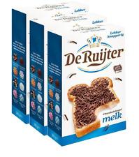 (12,27€/kg) 3x De Ruijter Hagelslag Melk Vollmilchschokolade Streusel 380g