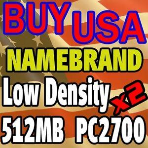 1GB Kit LOT 512 512MB x 2 PC2700 2700 333MHZ Ram MEMORY desktop low density ddr