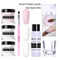 NICOLE DIARY Acrylic Powder Liquid Kit Gel Tips Extend Builder Nail Starter Kits