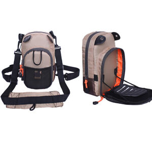 Fly Fishing Chest Bag Lightweight Chest Pack Outdoor Sports Pack sling bag Khaki