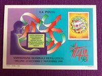 REPUBBLICA 1998   FOGLIETTI ESPOSIZIONE MONDIALE FILATELIA NUOVO MNH**