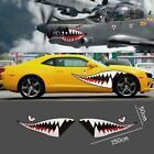 2Pc Die Cut 59 Full Size Shark Mouth Decal Flying Tiger Vinyl Car Sticker Diy