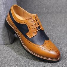 Brogue Fashion Mens Faux Leather Carved Dress Shoes Lace Up Casual Shoe Business
