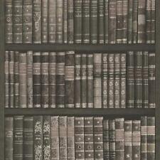 Rasch Book Shelf Pattern Wallpaper Books Case Library Textured Faux Effect Roll