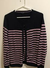 ❤️ TOMMY HILFIGER XL designer wool jumper cardigan Cashmere Bought $240