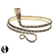 Bracelet de bras fantaisie en métal doré vieilli. Serpent. 6e436f0f85ad